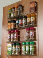 SPICE / JAR RACK - 4-tier to suit 500mm wide cabinet door (ECF WWSR)